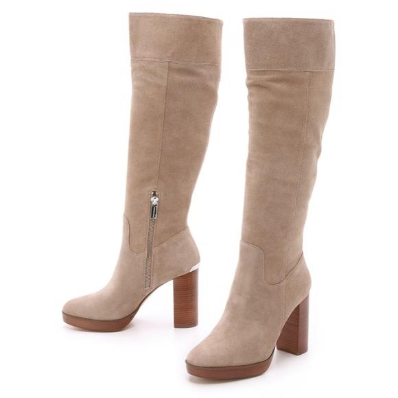 d0014ca2773 Michael Kors Regina platform suede knee high boot